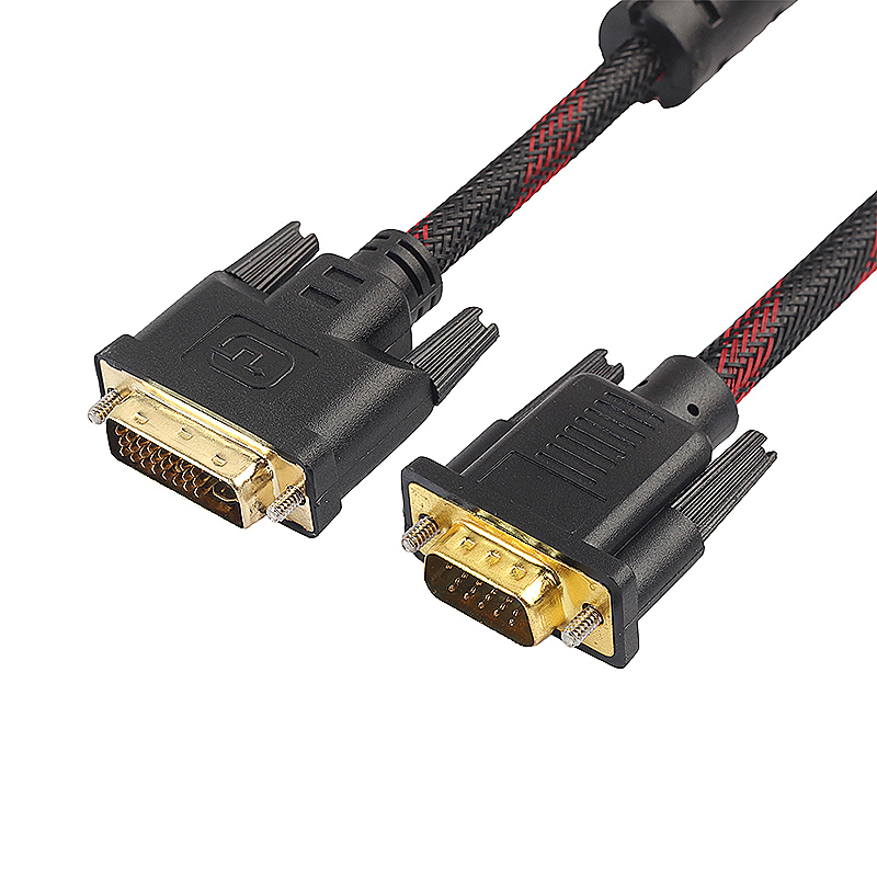 1.5m 1.5m DVI-I to VGA Connect Adapter Cable Male to Male Video Line