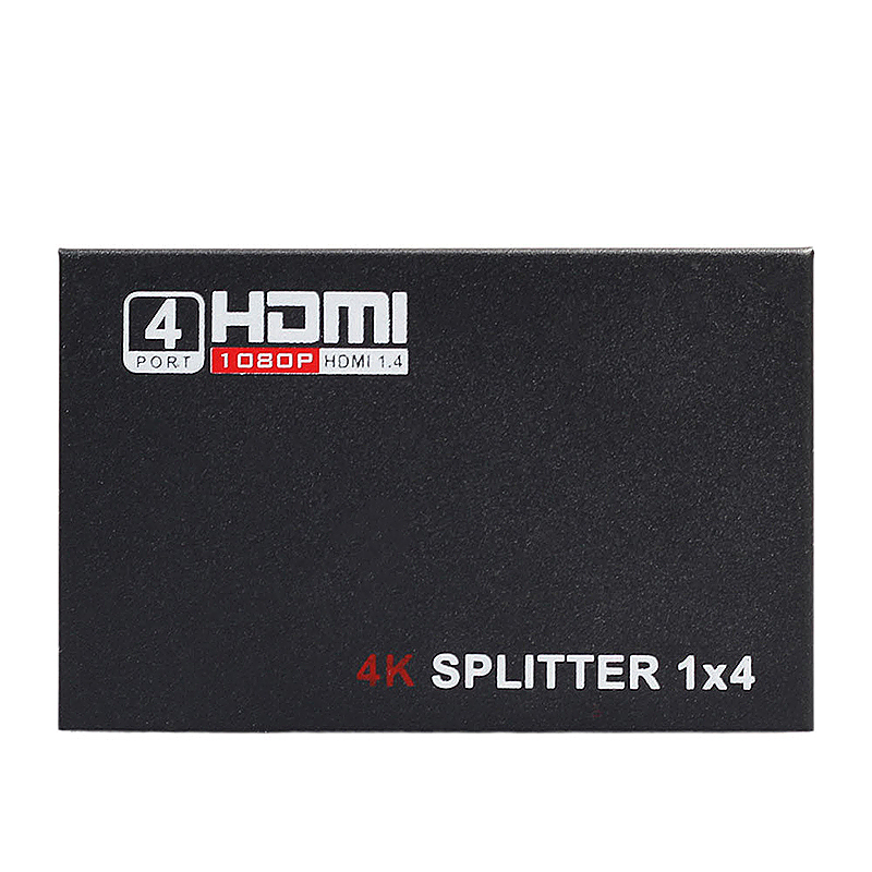 HDMI Splitter 1 In 4 Out Hub Repeater Amplifier 1080P 3D HDMI Adapter - Black