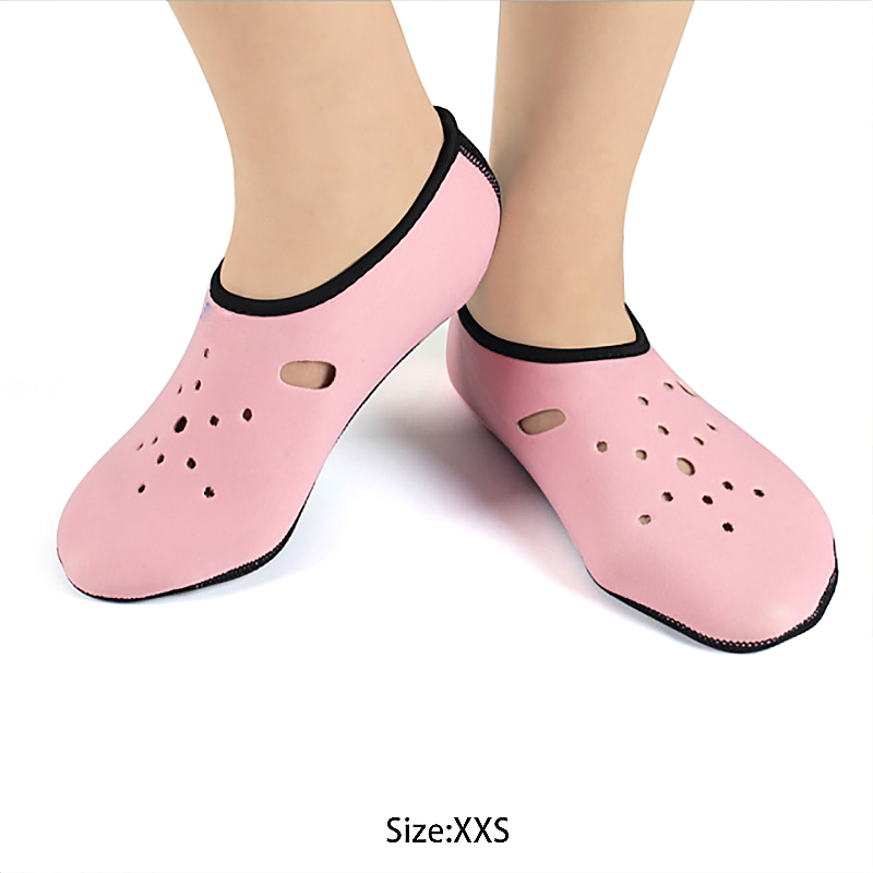 Outdoor Non-Slip Water Swimming Scuba Socks Diving Surfing Beach Shoes Size XXS - Pink