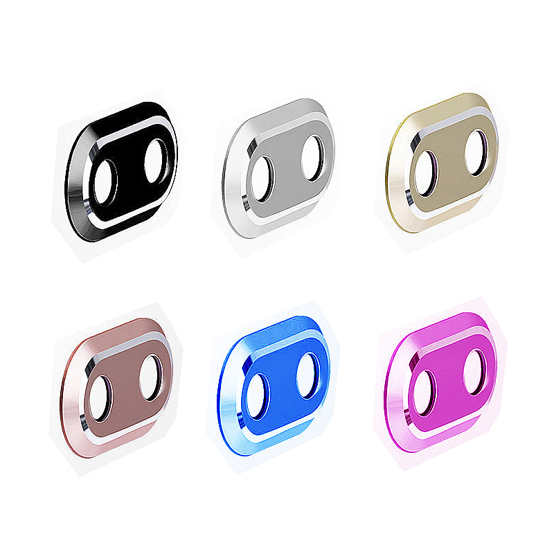 Camera Metal Circle Protector Ring Lens Protective Case for iPhone 7 Plus - Black
