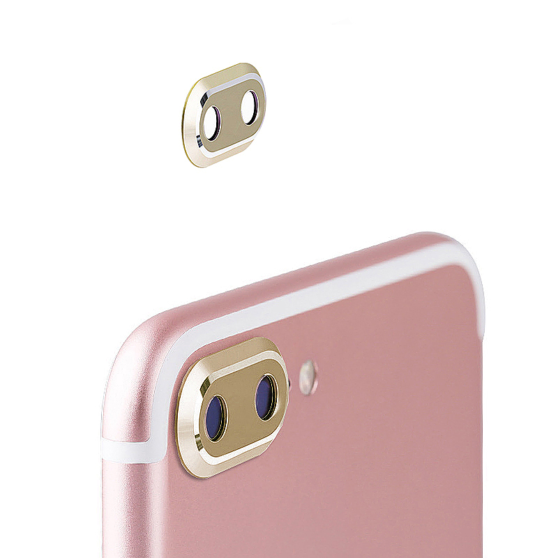 Camera Metal Circle Protector Ring Lens Protective Case for iPhone 7 Plus - Gold