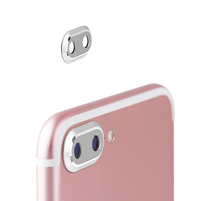 Camera Metal Circle Protector Ring Lens Protective Case for iPhone 7 Plus - Silver