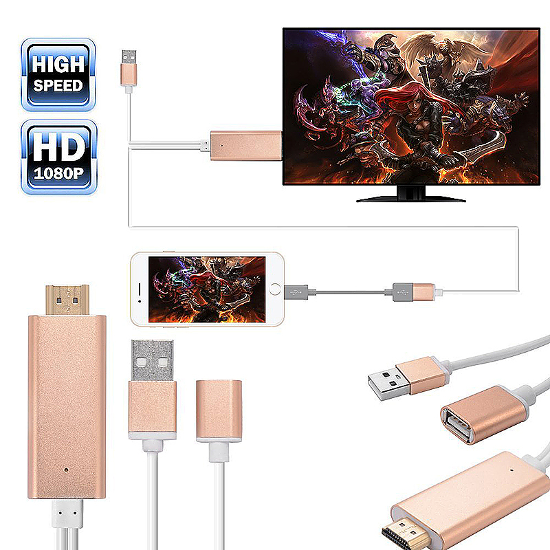 Lightning to HDMI Cable Adapter Lightning Digital AV Adapter for iPhone Samsung