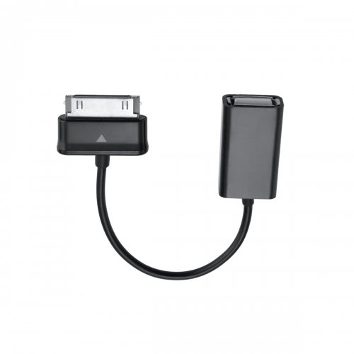 Compact Female USB 2.0 to 30 Pin OTG Host Cable Adapter Connection for Samsung P1000- Black