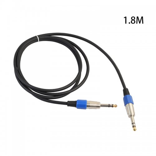1.8M Premium Stereo 6.35mm Male to Male Audio Cable Gold Plated Electric Guita Cord
