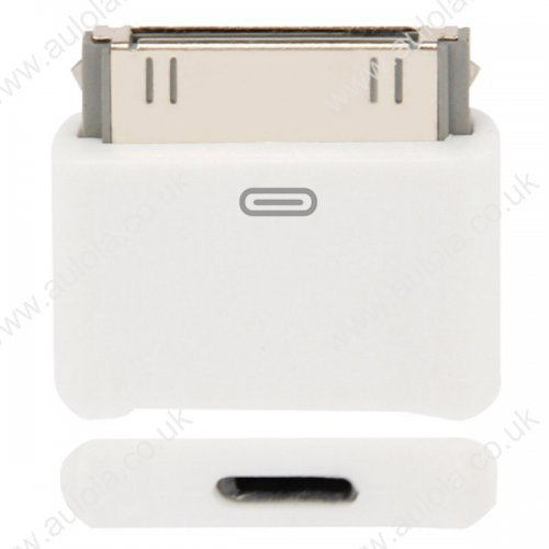 8 Pin Male to 30 Pin Female Adapter Converter for iPhone 4 / iPhone 5 - White