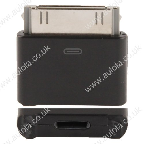 8 Pin Male to 30 Pin Female Adapter Converter for iPhone 4 / iPhone 5 - Black
