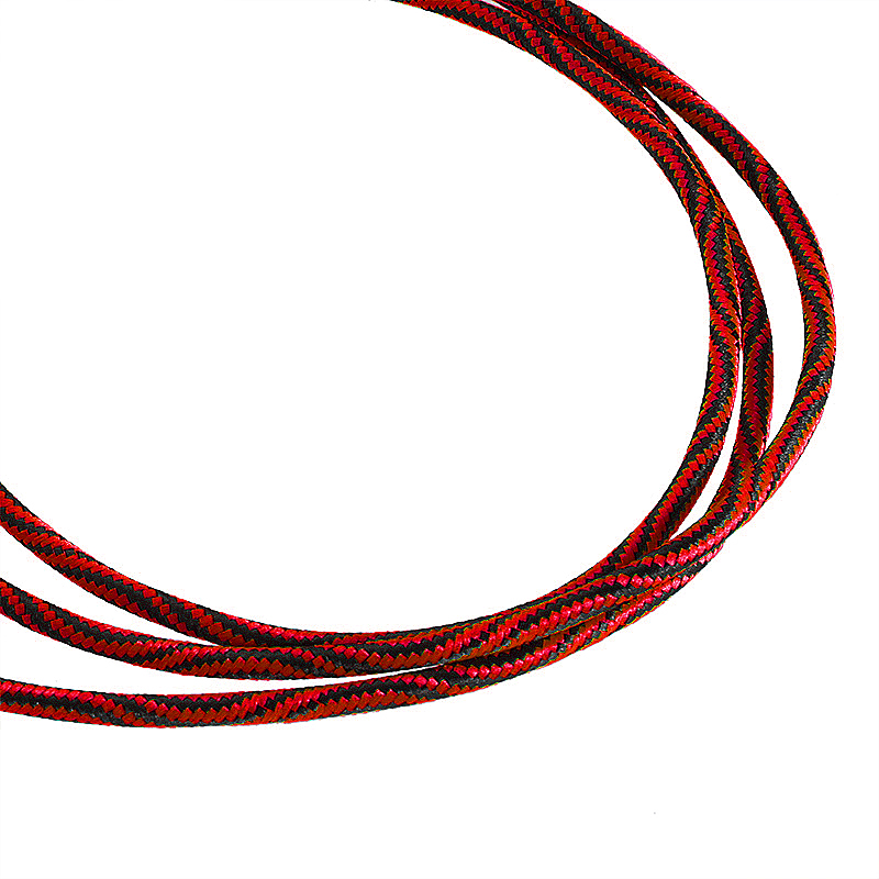 3.5 to 3.5mm Jack Aux Cable Nylon Braid Car Audio Stereo MP3 Cable - Red