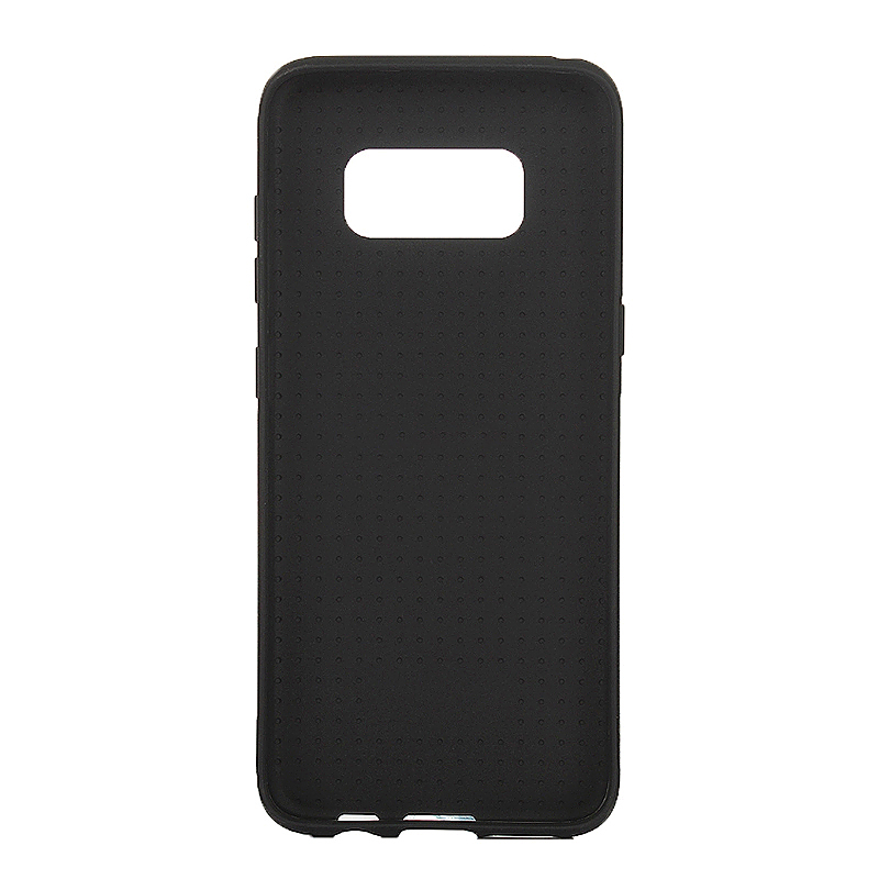 Carbon Fibre Soft TPU Case Back Phone Cover for Samsung Galaxy S8 Plus - Black