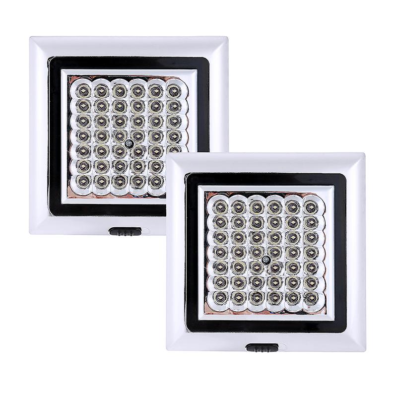 2pcs 12V 42 LED White Light Car Van Vehicle Roof Ceiling Interior Light Lamp