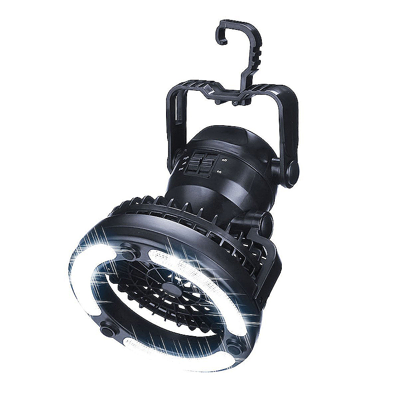 1x 2 in 1 Camping Lantern /& Ceiling Fan 18 LED Hanging Light Outdoor Hiking Lamp