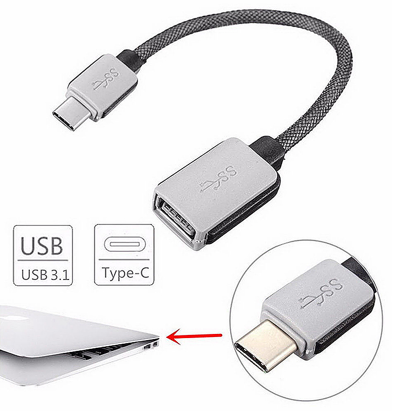 OTG Cable Type C Male to USB 3.0 Type A Female Type-C Adapter Cable for Macbook