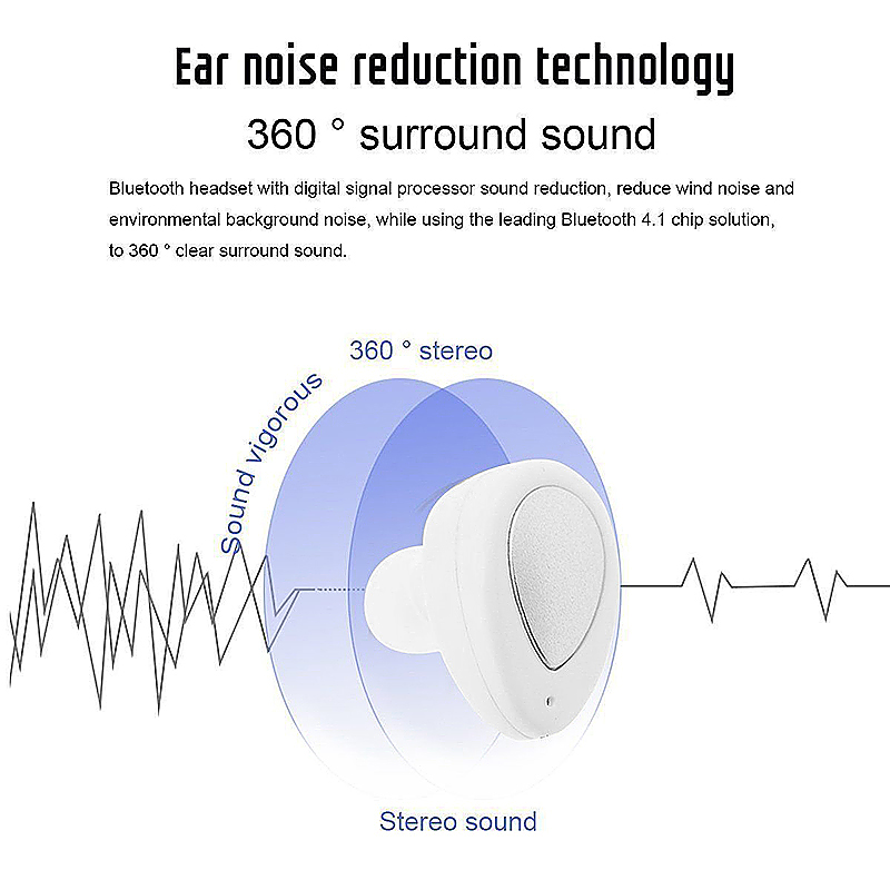 Wireless Earbuds Dual Bluetooth Earphones with Built-in Mic and Charging Case for Smartphones - White + Silver