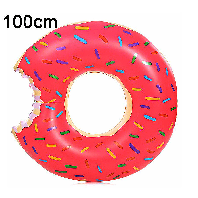 100cm BigMouth Inflatable Gigantic Donut Swimming Pool Ring Float Swim Ring - Pink