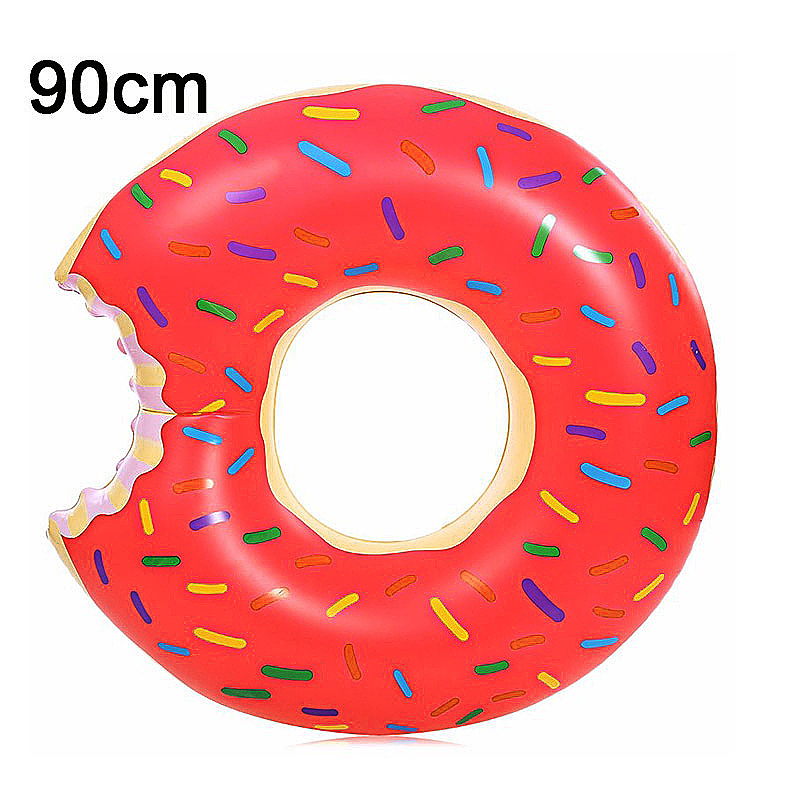90cm BigMouth Inflatable Gigantic Donut Swimming Pool Ring Float Swim Ring - Pink