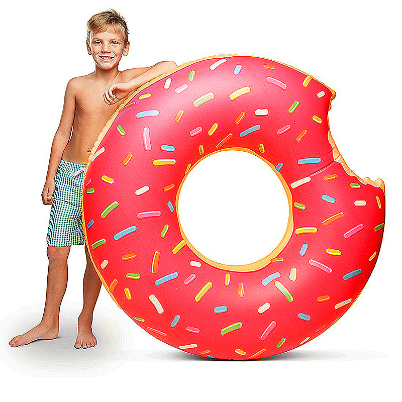 80cm BigMouth Inflatable Gigantic Donut Swimming Pool Ring Float Swim Ring - Pink