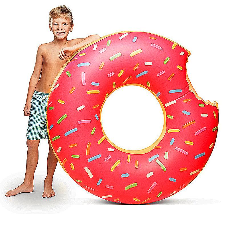 70cm BigMouth Inflatable Gigantic Donut Swimming Pool Ring Float Swim Ring - Pink