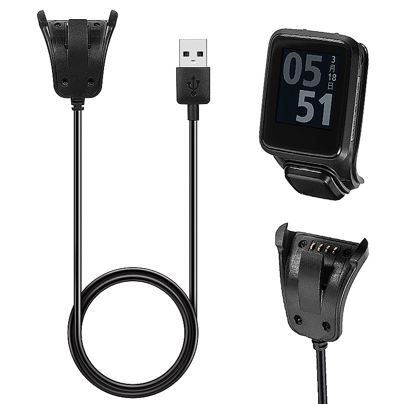 Smart Watch Charging Cord USB Data Charging Cradle Cable Charger for TomTom 3