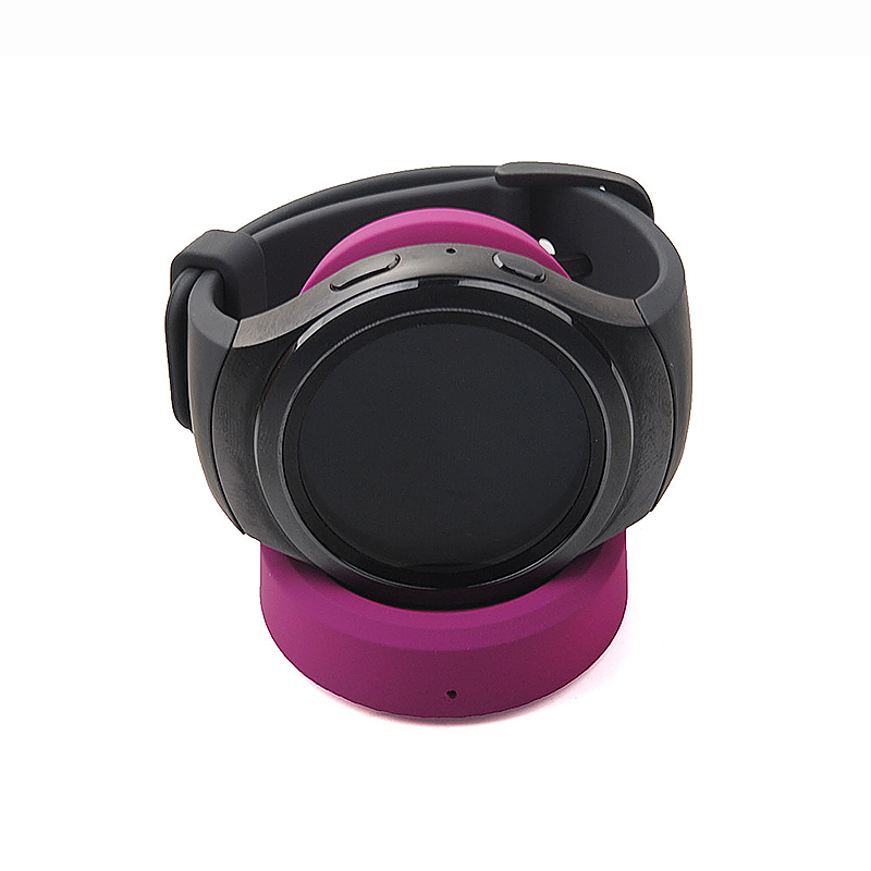 Samsung Gear S3 Smart Watch Dock Cradle Charger Smart Watch QI Wireless Charger - Purple