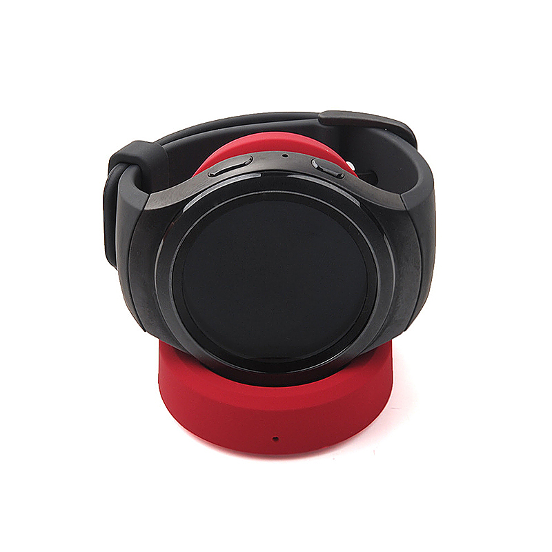 Samsung Gear S3 Smart Watch Dock Cradle Charger Smart Watch QI Wireless Charger - Red