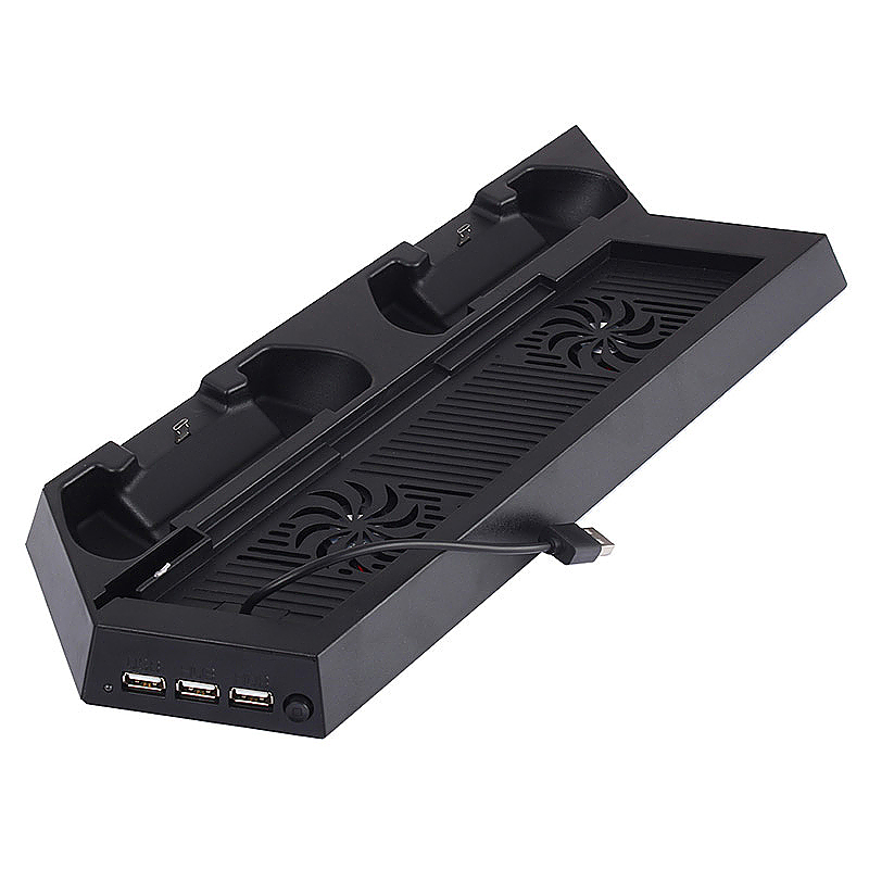 PS4 All-in-One Cooling Station Vertical Stand with 2 Controller Charging Dock for Playstation 4