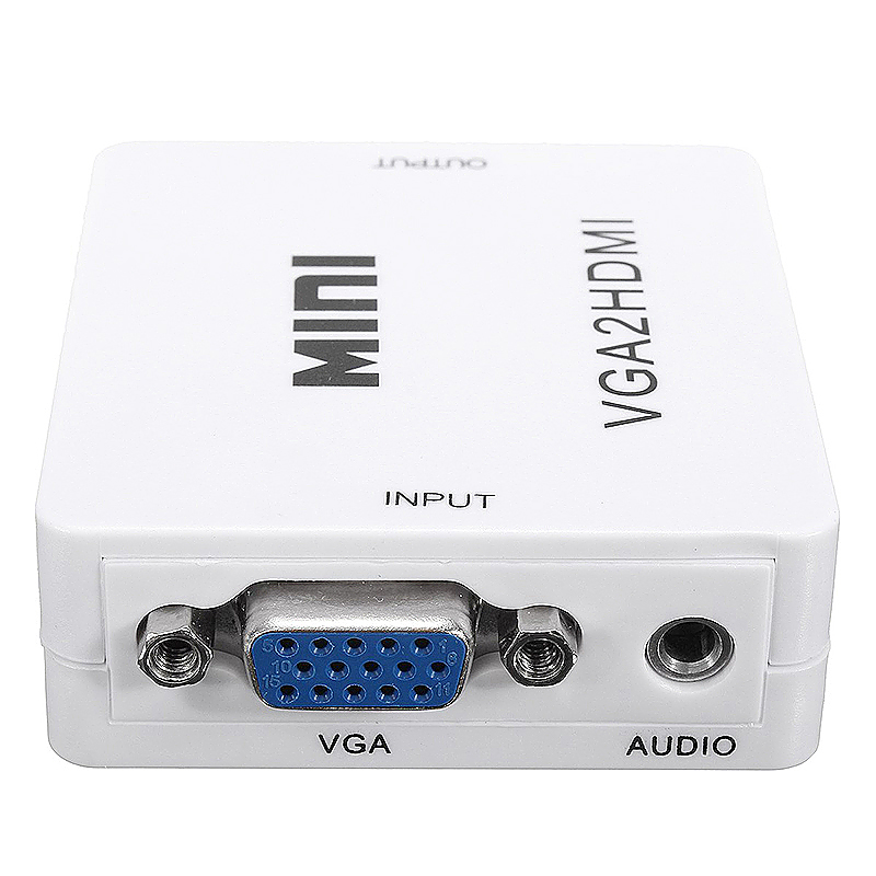 Mini 1080P VGA to HDMI Adapter Converter Connector with Audio for PC Laptop to HDTV Projector