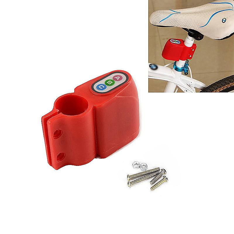 Bicycle Bike Motion Sensor Anti Theft Security Alarm Warning Annunciator Lock - Red