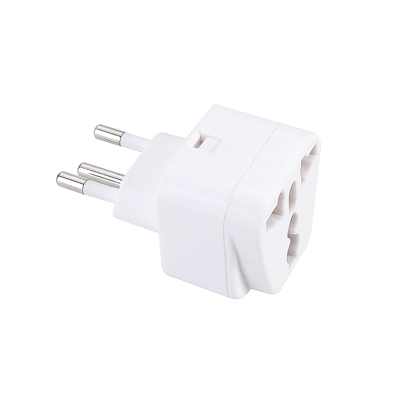 CE Certified Swiss to UK 3 Pins Travel Adapter Converter Plug - White