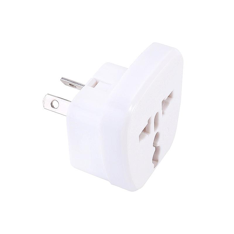 CE Certified 2 Pin Plug Travel Adapter Universal Australia to UK Charger Plug - White