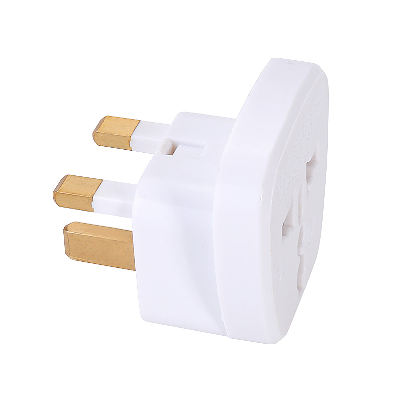 CE Certified Universal UK to UK Plug Adapter Travel Charger with Safety Shutter - White