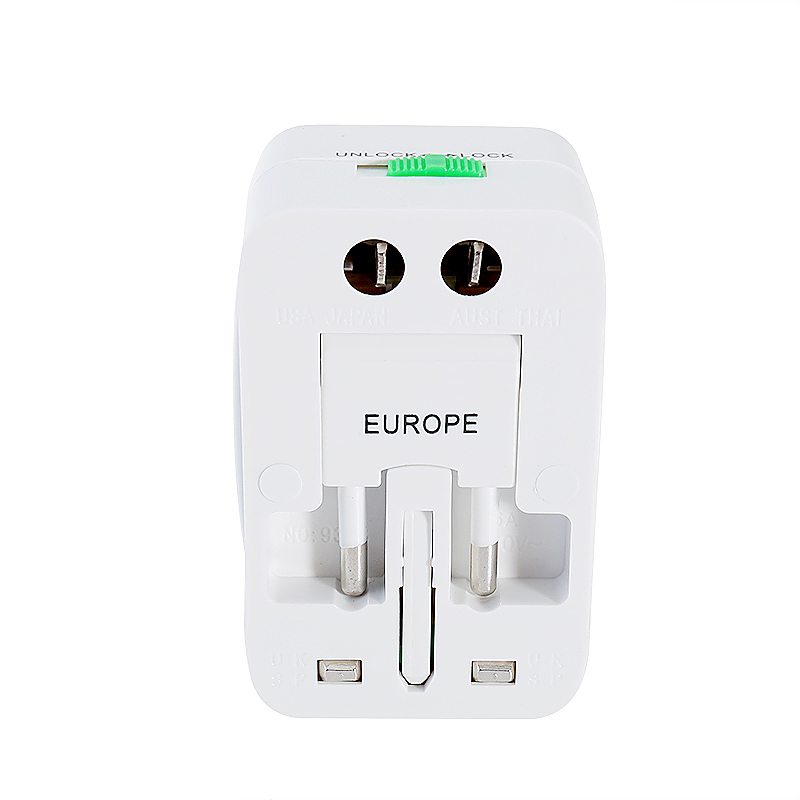 CE Certified SP-931L 3 in 1 Mulfitunctional Single USB Travel Charger Adapter - White