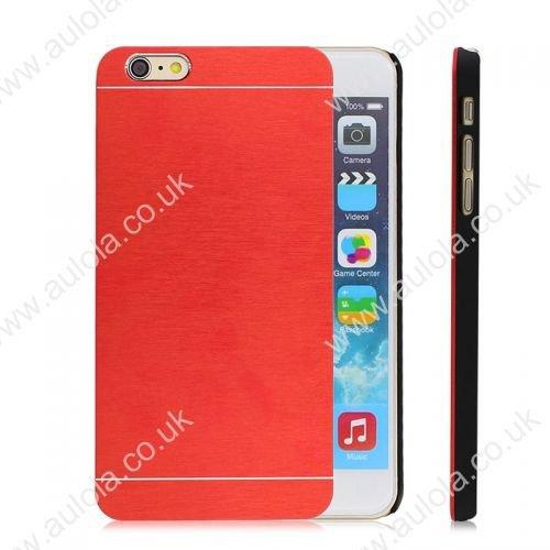 Motomo Metal Premium Luxury Brushed Aluminum Case for 4.7 Inch iPhone 6- Red