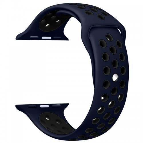 42mm Sport Replacement Wrist Strap for iWatch Series 1 Series 2 Apple watch band - Blue + Black