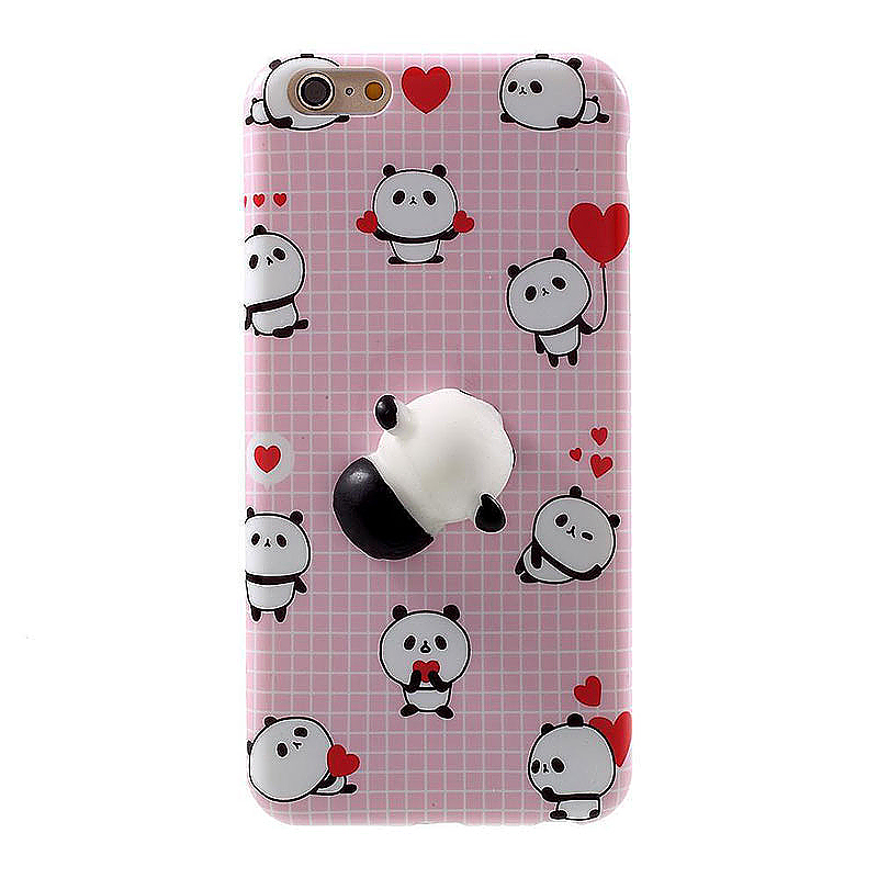 3D Cute Cartoon Squishy Panda Animal Release Stress Case Cover for iPhone 6