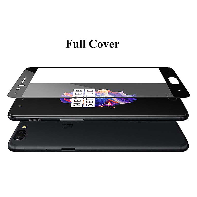 OnePlus 5 Full Coverage 3D Tempered Glass Screen Protector Film Shield