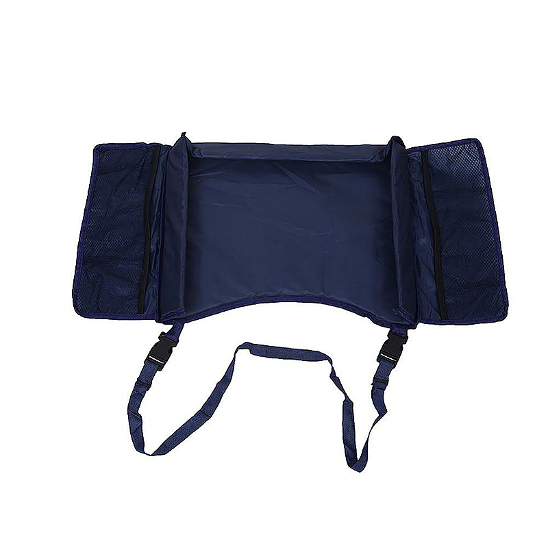 Toddler Car Seat Trays Kids Travel Play Tray with Cup Holder - Navy Blue
