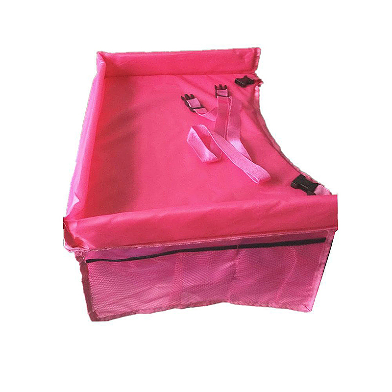Toddler Car Seat Trays Kids Travel Play Tray with Cup Holder - Pink