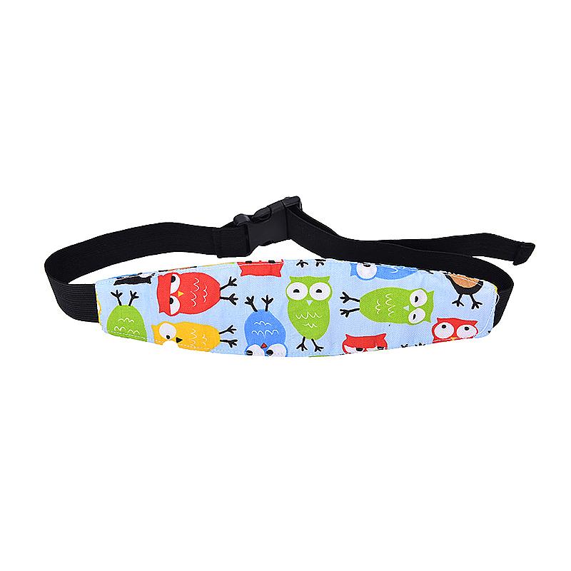 Car Seat Sleeping Head Support Baby Kids Relief Head Belt Neck - Blue Owl