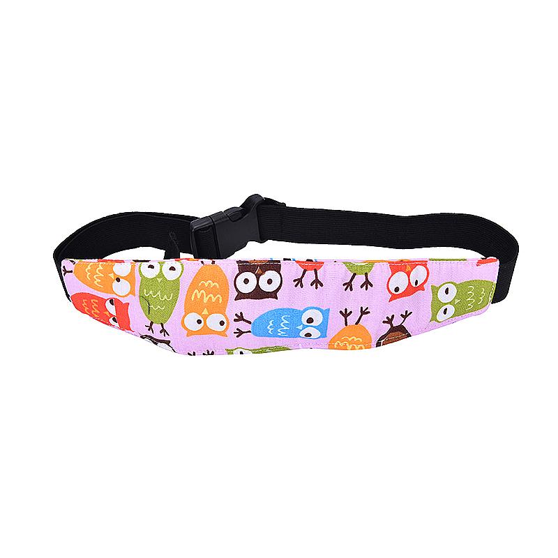 Car Seat Sleeping Head Support Baby Kids Relief Head Belt Neck - Pink Owl