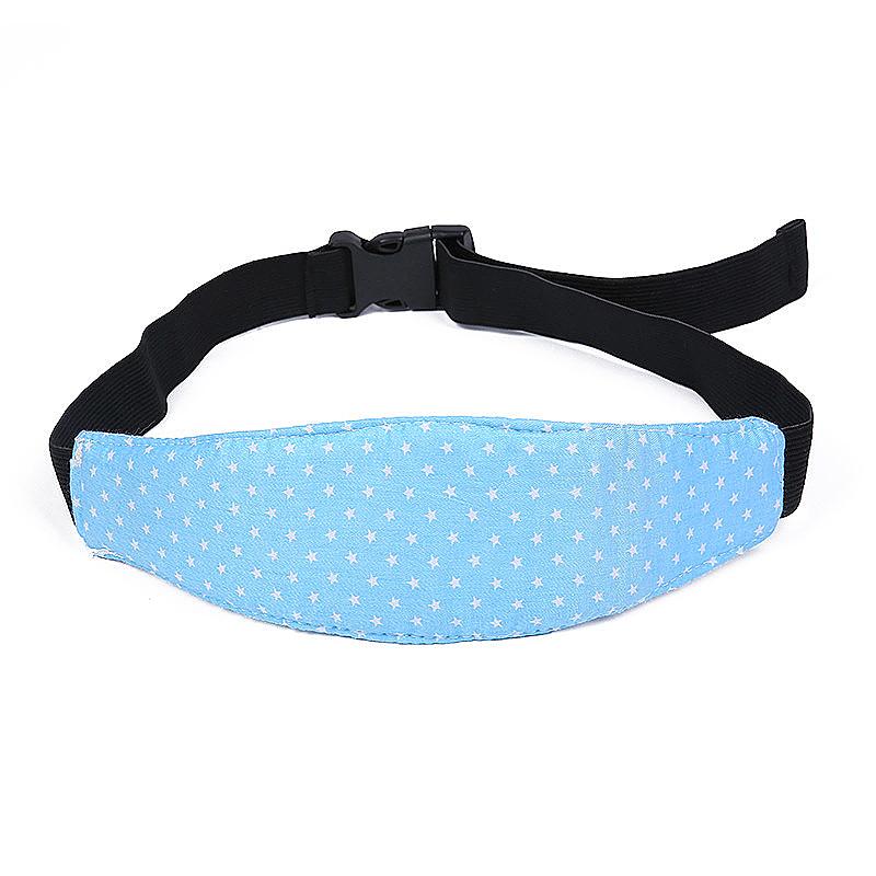 Car Seat Sleeping Head Support Baby Kids Relief Head Belt Neck - Blue Star