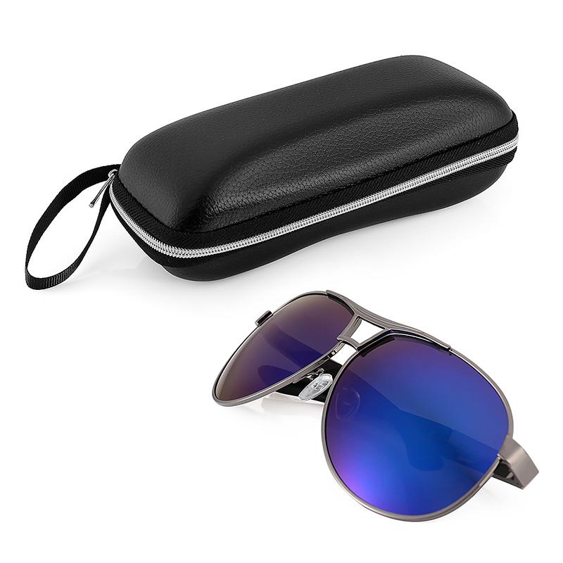 Men's Polarized Retro Driving Aviator Sunglasses Outdoor Glasses Eyewear + Box - Blue