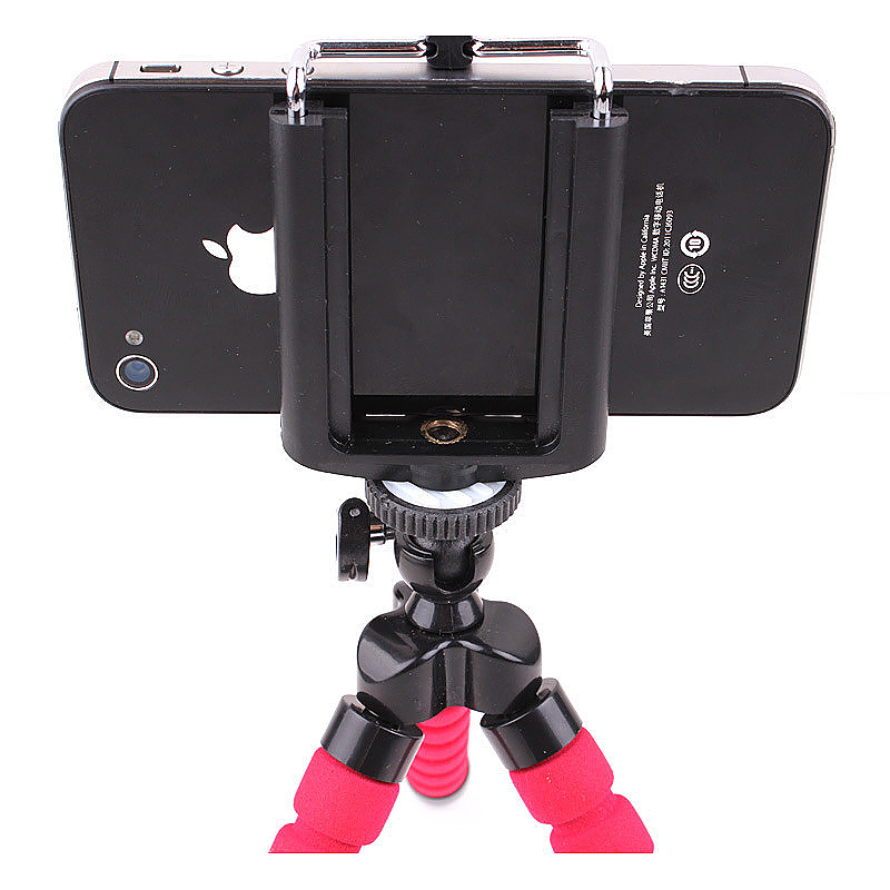 Octopus Mini TriPod Stand Grip Holder Mount Mobile Phones Cameras Holder Gadgets - Red