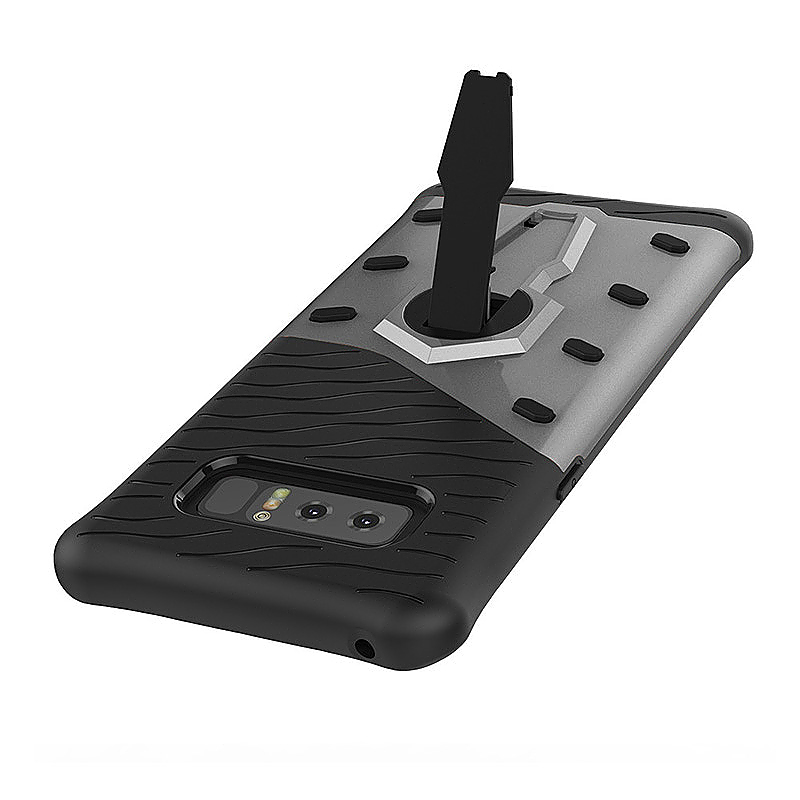 For Samsung Galaxy Note 8 Armor Kickstand PC + TPU Protector Case - Black