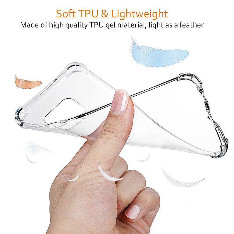 Clear Soft TPU Cover Case for Samsung Galaxy Note 8 - Transparent