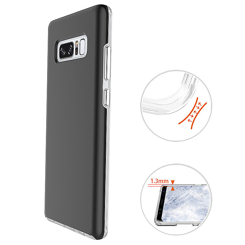 For Samsung Galaxy Note 8 Chrome Plated Press Button Protective Case - Black