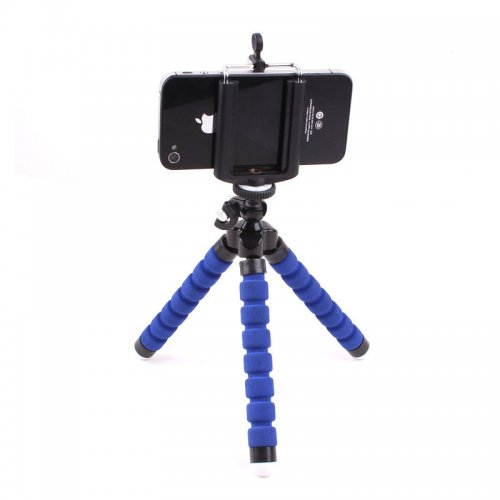 Octopus Mini TriPod Stand Grip Holder Mount Mobile Phones Cameras Holder Gadgets - Blue