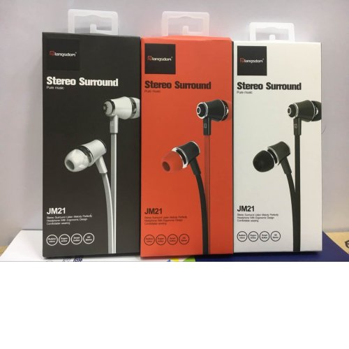 Mega Bass In-Ear Noodles Earphones Handsfree for iPhone Samsung - Red
