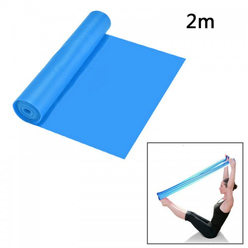 2M Resistance Bands Yoga Exercise Fitness Elastic Resistance Band for Man Woman Training Band - Blue