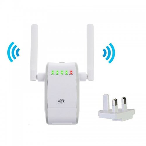 Wireless 300Mbps 802.11 AP Wifi Range Repeater Router Booster - UK Plug
