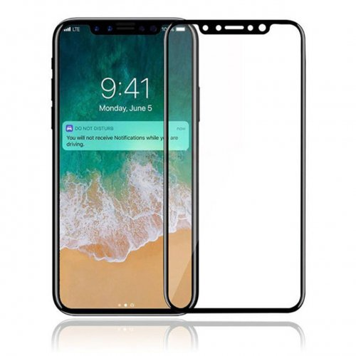 3D 9H Hardness Screen Protector Tempered Glass for Apple iPhone X/XS - Black